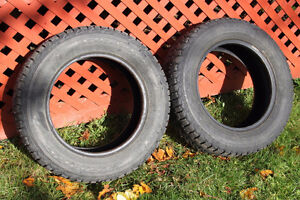 Two Firestone Winterforce P195/65R/15 Studded Tires