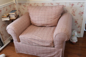 Shabby Chic Sklar Peppler Chair and a Half reduced from $100.00