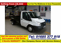 2011 - 61 - FORD TRANSIT T350 2.4TDCI 100PS MWB SINGLE CAB TIPPER (GUIDE PRICE)