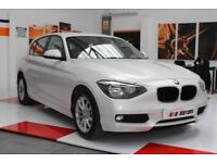 2014 64 Reg BMW 1 Series 2.0d SE Automatic Satnav 5 Doors In Pearl White