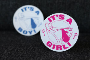 IT'S A GIRL *** IT'S A BOY *** BABY SHOWER STICKERS