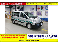 2010 - 10 - CITROEN DISPATCH 1.6HDI 90 5 SEAT DISABLED ACCESS BUS (GUIDE PRICE)