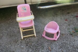 doll highchair and walker