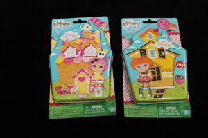 New SEALED Lalaloopsy Gel Sticker Playsets in Collector Tins.