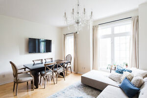 1200 SQ FT - 2-Bedroom Downtown Toronto Townhouse for Rent/Lease