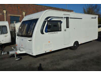 2016 Lunar Cosmos 574 4 Berth Touring Caravan with Transverse Island Bed
