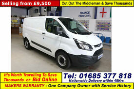 2015 - 65 - FORD TRANSIT CUSTOM 290 2.2TDCI 100PS ECO-TECH SWB VAN (GUIDE PRICE)