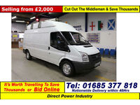 2008 - 57 - FORD TRANSIT T350 2.4TDCI 115PS RWD HIGH-TOP LWB VAN (GUIDE PRICE)