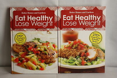 Set of 2 Better Homes and Gardens Cookbooks Eat Healthy Lose Weight 1 & (Best Home Weight Set)
