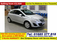 2011 - 11 - VAUXHALL CORSA 1.4 EXCLUSIV AC 3 DOOR HATCHBACK (GUIDE PRICE)