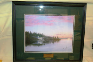 LONELY LAKE BY GLEN SCRIMSHAW SIGNED NUMBERED 26 X 22