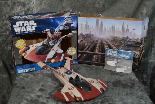 2010 Hasbro Star Wars JEDI TURBO SPEEDER Clone Wars Near Complete FREE SHIPPING