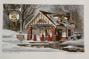 White rose  Gas station  ltd. print