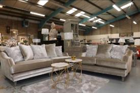 Belvedere champagne 4&2 Seater Sofa set New condition free local deliv