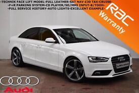 2012 Audi A4 2.0TDI Technik-SAT NAV-LEATHER-F+R PARKING SYSTEM-FULL HISTORY-