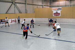 Surfaces hockey balle cosom 3 vs 3 et 4 vs 4 à Laval
