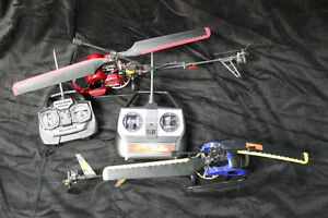 2 R/C helicopters