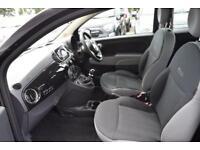2016 Fiat 500 1.2 Eco Pop Star (s/s) 3dr Petrol black Manual