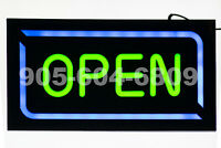 8W Multi-Colour LED OPEN Sign with Remote Control      Watch