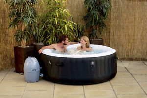 """Outdoor Spirit Lay-Z-Spa 71"""" x 26"""" Round Inflatable Heated Spa"""