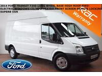 2014 Ford Transit 2.2TDCi (100PS) (EU5) (RWD) 350L 350 LWB-1 X OWNER- LOW MILES-