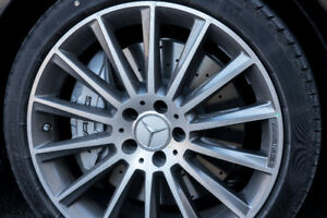 """Set of 19"""" AMG rims 5x112 with run-flat tires"""