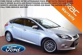 SEPT 11 Ford Focus 1.6TDCi (115ps)Zetec-BLUETOOTH-APPEARANCE PACK-FULL FORD S.H.