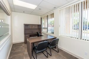 Professionally furnished office space with internet, utilities +