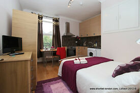 Compact Studio short let London flat suitable for 2 people,holiday apartment to rent (#19.1)