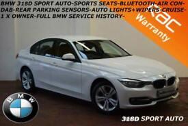 2014 BMW 318 2.0TD (143bhp) (s/s) Auto d Sport-FULL BMW SERVICE HISTORY-DAB