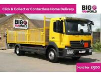 2016 MERCEDES ATEGO 1221 EURO 6 ULEZ12TON 21 FT CAGED DROPSIDE WITH TAIL LIFT (