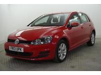 2013 Volkswagen Golf SE TDI BLUEMOTION TECHNOLOGY DSG Diesel red Semi Auto