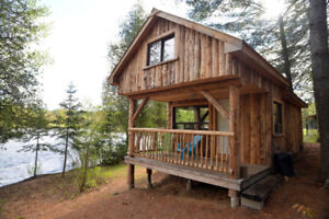 Waterfront Log Cabin available this weekend