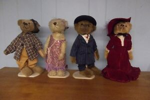 lot of 4 pickford bear dolls