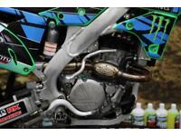 2016 KAWASAKI KXF 250 MOTOCROSS BIKE HGS EXHAUST SYSTEM, EFI, NEW GRIPS
