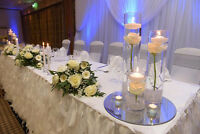 Wedding Decor Flowers Centerpieces Backdrop Linen and party rent