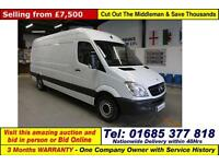 2012 - 12 - MERCEDES SPRINTER 313 2.2CDI LWB VAN (GUIDE PRICE)