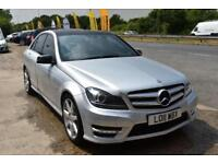 BAD CREDIT CAR FINANCE AVAILABLE 2011 11 MERCEDES C220 2.1CDI BLUE F SPORT
