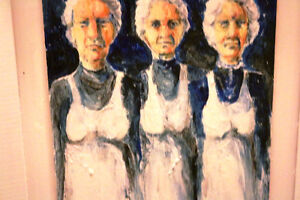 A PAIR OF KRIS ENGSTROM ORIGINALS THE GIRLS & THE GIRLS ARE GONE Moose Jaw Regina Area image 3