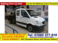 2010 - 60 - MERCEDES SPRINTER 313 2.2CDI DOUBLE CAB LWB TIPPER (GUIDE PRICE)