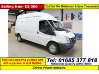 2008 - 08 - FORD TRANSIT T350 2.4TDCI 115PS RWD HIGH-TOP LWB VAN (GUIDE PRICE)