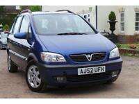 2002 Vauxhall Zafira 2.2 i 16v Elegance 5dr