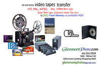 Video transfer Services,  old photo restoration, slide printing