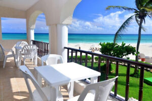 Oceanfront condo 3 bedroom in Xaman Ha