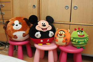 Beanie Ballz Dog Band It, Mickey Mouse, Tiger, Yo Gabba Brobee