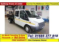 2013 - 63 - FORD TRANSIT T350 2.2TDCI 100PS RWB DOUBLE CAB TIPPER (GUIDE PRICE)