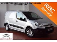 2013 Citroen Berlingo 1.6HDi LX-ONLY 64K-3 SEATER-ELECTRIC PACK-SIDE DOOR-