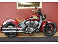 Indian Scout 1200 Indian Red 3484 miles! Extras!