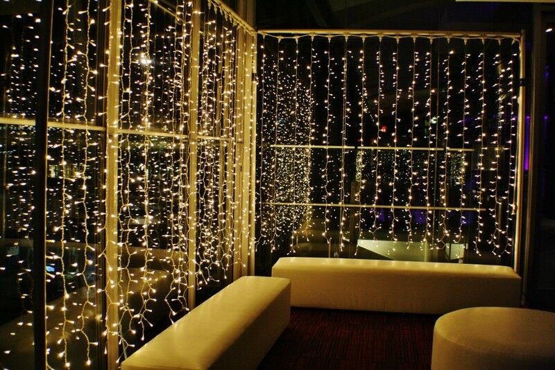 2 PK OF 300 LED 3m Fairy Curtain String Lights Wedding Party Room Decor  Holiday Home & Garden