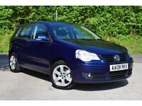 Volkswagen Polo 1.4 (80PS) 2008MY Match Blue 74k miles 5 door